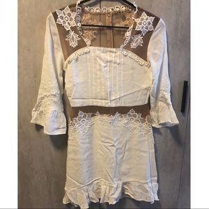 Like new for love and lemons mini dress in white